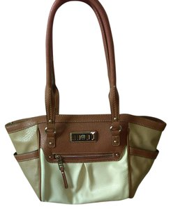 Chaps Tote in Brown, tan, cream