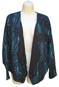 ASOS Waterfall Open Front Abstract Blue/Black Jacket
