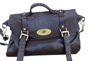 Mulberry Oversized Alexa Leather Satchel in Brown