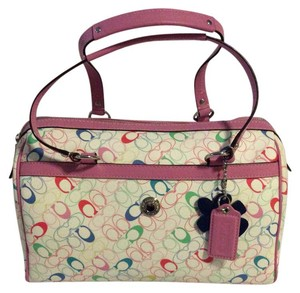 Coach Canvas Multi Sectional Like New Satchel in pink