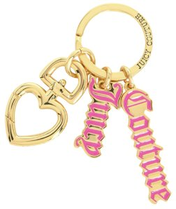 Juicy Couture Juicy Script KEY FOB Key Ring Key Chain Purse Charm with Dust Bag