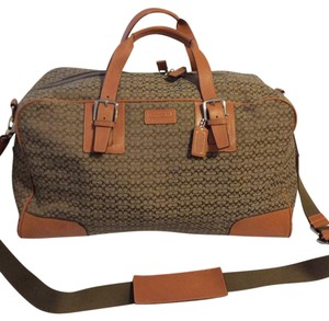 Coach Brown Leather Top Handle Carryon camel Travel Bag