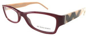 Burberry Burgundy Beige Burberry Eyeglasses