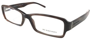 Burberry Brown Horn Burberry Eyeglasses