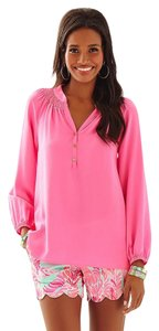 Lilly Pulitzer Elsa Silk Top Pink