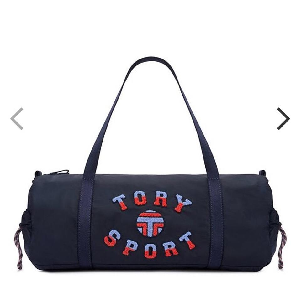 Tory Burch Sport Duffle Yoga Navy Travel Bag