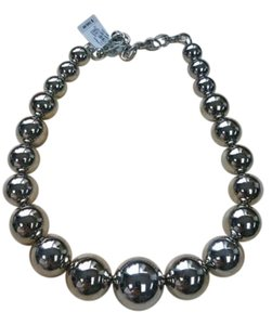 Michael Kors MKJ2284040 Large Silver Pearl Strand Necklace