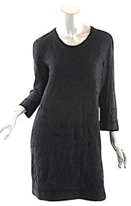 Chanel short dress Black 100% Wool Double Knit Easter Spring on Tradesy