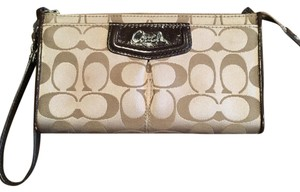 Coach Wristlet in Cream Print