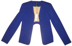 W118 by Walter Baker Jacket Asymmetrical Zips Suiting Blue Blazer