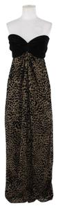 Tadashi Shoji Tadashi Collection Cheetah Velour Velvet Empire Waist Gown Prom Dress