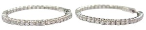 Other Fine Inside Out Diamond Hoop Earrings WG 2.97CT