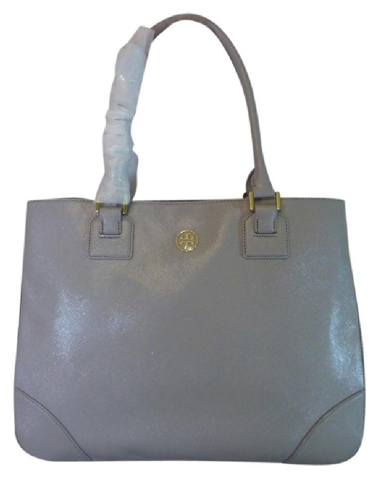 Saffiano Burch Leather Large Gray Tory Mercury Tote Robinson Ew 6qxY4w