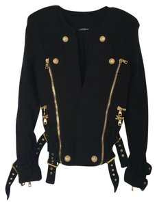 Balmain Military Biker Gold Motorcycle Jacket