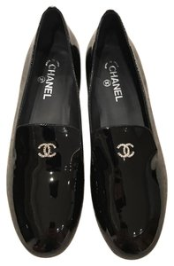 Chanel Oxford Loafer Pearl Patent Classic black Flats