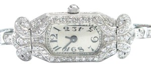 Other Platinum Vintage Diamond Watch Single Cuts 1900's 1.20CT LRM