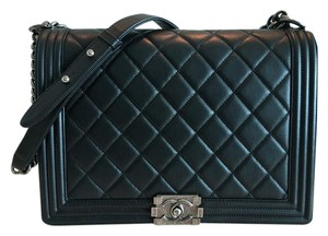 Chanel Leather Quilted Cross Body Bag