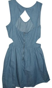 One Clothing short dress blue Cotton Youthful Trendy Chambray on Tradesy