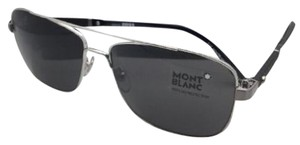 Montblanc MONTBLANC Sunglasses MB 589S 14A 60-15 Light Ruthenium Aviator w/Smoke