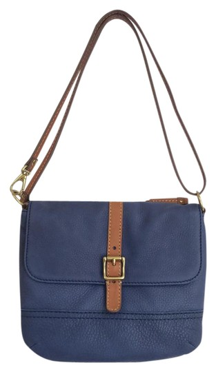 Fossil Shb1045400 Navy Hand Leather Cross Body Bag
