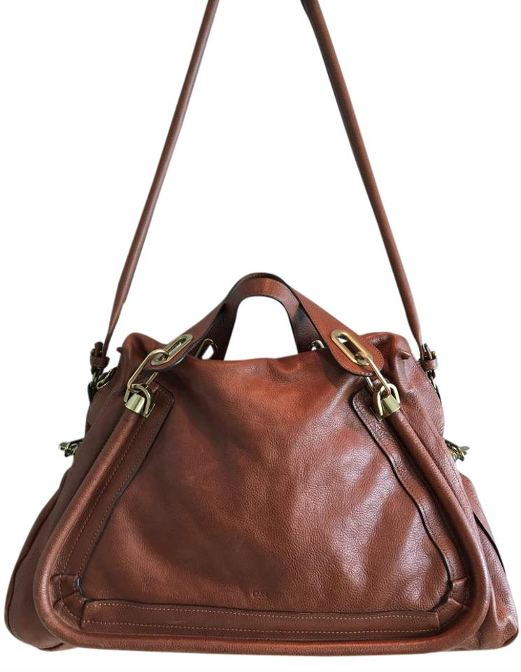 56ffefbc6b12 Chloé Paraty Nutmeg Leather Satchel - Tradesy