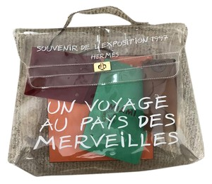 Herms Kelly Souvenir L'exposition Kelly Kelly Tote in Clear