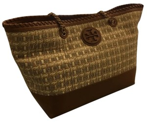 Tory Burch Tote in tan and gold