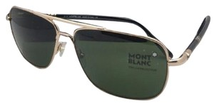 Montblanc New MONTBLANC Sunglasses MB 508S 28N 60-14 Gold-Black Aviator w/Green