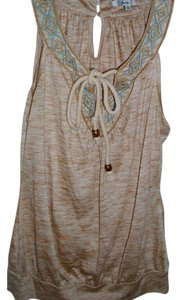 Papaya Embroidered Vintage Retro Southwestern Casual Top