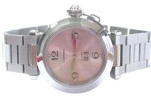 Cartier Cartier Stainless Steel Pasha Big Date 35mm Automatic Pink Dial Watch