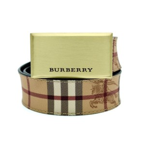 Burberry Burberry barnsfield brushed plaque belt