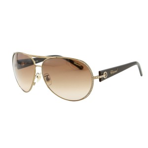 Chopard New Chopard SCH 940S Swarovski Embellished Brown Aviator Sunglasses