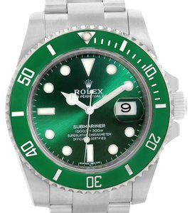 Rolex Rolex Submariner Hulk Green Dial Steel Mens Watch 116610LV