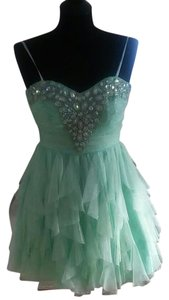B. Darlin Homecoming Prom Short Mint Sparkle Dress