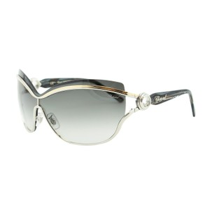 Chopard New SCH A61 Happy Diamonds Shield Rimless Floating Crystals Sunglasses