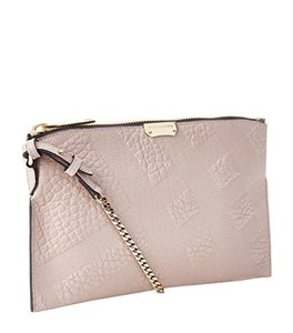 Burberry Peyton Check Embossed Leather Tote in Orchid