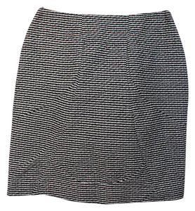 Marni Mini Mini Skirt Black and White stripes