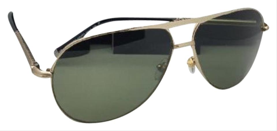 7be9f0db84 Montblanc Polarized MONTBLANC Sunglasses MB 517S 28R 62-12 Gold Aviator w   Green Image ...