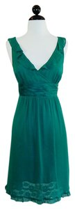 Moulinette Soeurs short dress Green Silk Spring Summer Ruffe on Tradesy