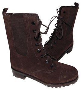Tory Burch Combat Chelsea Brown Broome Boots
