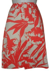 New York & Company Knee Length Summer Mini Skirt Coral