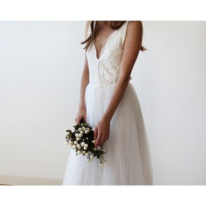 Ivory Tulle And Lace Wedding Gown Wedding Dress