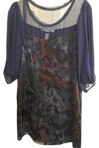 Diane von Furstenberg Velvet Chiffon Evening Dress