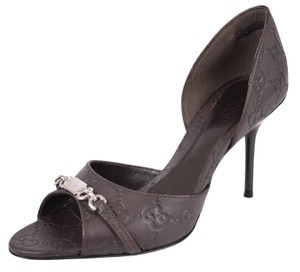 Gucci Peep Toe Sandals Old Chocolate Pumps