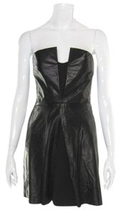 A.L.C. Alc Strapless Leather Little Skater Dress