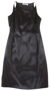 Jil Sander Satin Asymmetric Sheath Dress
