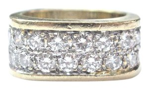 Other Fine 2-Row Square Diamond Yellow Gold Jewelry Ring 20-Stones 2.00Ct E-