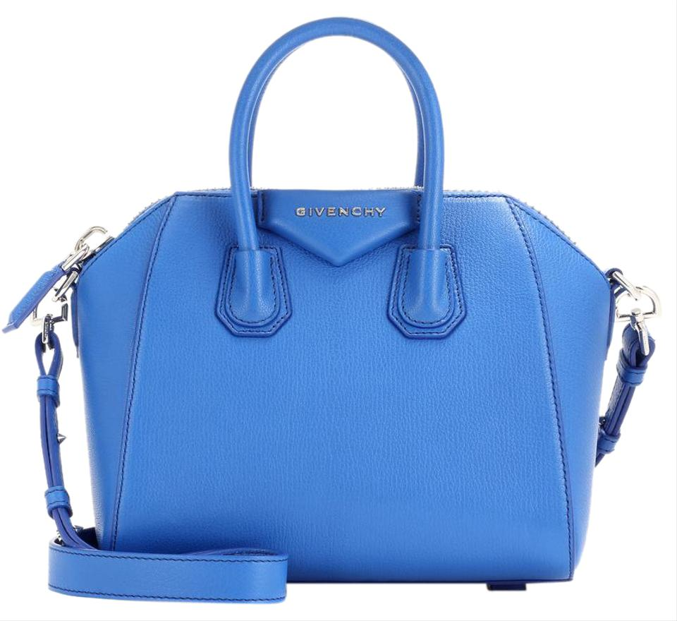 41a1904750 Givenchy Mini Antigona Indigo Blue Leather Tote - Tradesy