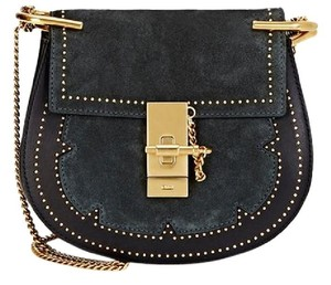 Chloé Chloe Studs Embellished Chloe Drew Suede Cross Body Bag