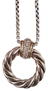 David Yurman David Yurman Classic Cable Pendant Necklace with Diamonds